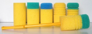 Examples of thermos flask cleaning sponges
